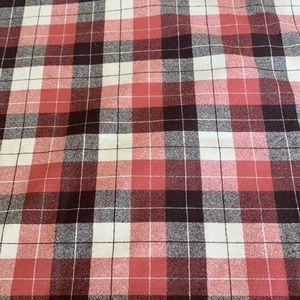 Vintage Wool Plaid Fabric